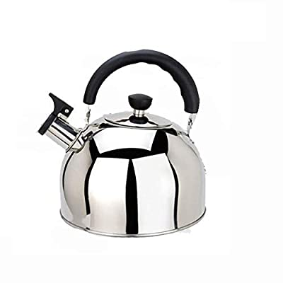 Whistling Kettle, Stainless Steel Whistle Teapot Gas Hob Teapot Household Kettle Mirror Polished Teapot For All Stovetops 3L/4L/5L/6L