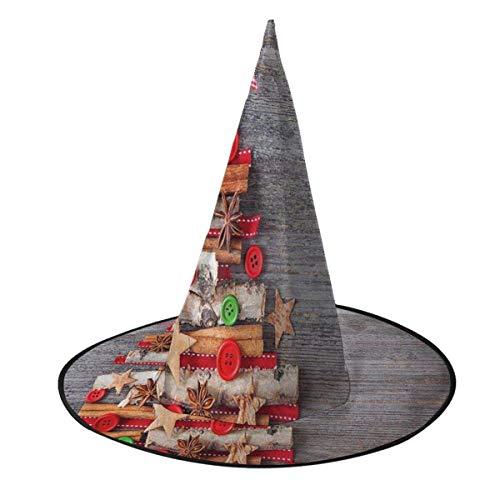 rouxf Estilo de Tela Abstracto rbol de Navidad Halloween Sombreros de Bruja Gorras Accesorio de Disfraz Fiesta Cosplay Favores Se Adapta a Adultos Nios Vari