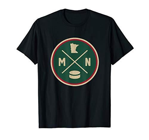 Classic Minnesota Hockey MN Outline T-Shirt