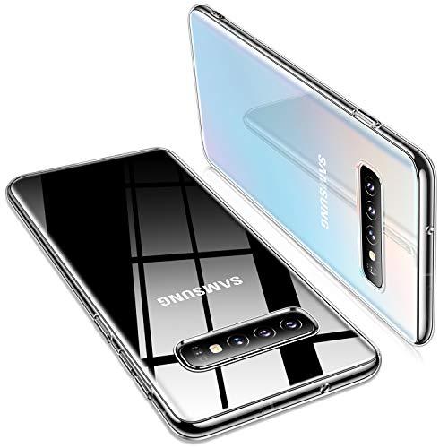 TORRAS Crystal Clear Galaxy S10+ Plus case 6.4 inch, Ultra Thin Slim Fit Flashy Edge Case Soft TPU Cover for Samsung Galaxy S10 Plus, Glossy Clear