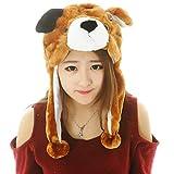 LAAT Sombrero Gorro de Animal con Cubierta de Oreja Accesorios de Cosply Disfraz para Mujer y Niños Gorro de Invierno (Perro)