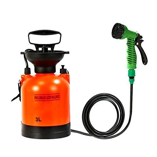 HAOT Piccolo spruzzatore a Pressione Portatile, irrigazione per Giardino Esterno 3L ad Alta Pressione Automatica per Getto di adescamento da Campeggio, per Viaggi di irrigazione, Stazione di Lava