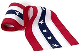 product image for Independence Bunting – 1 ½' Wide American Made Cotton USA Bunting. Patriotic Bunting Banner with Stars & Sewn Stripes! Sold by The Yard.