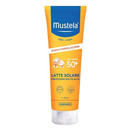Mustela Le4834 Latte Solare Protezione Molto Alta Spf 50+ Uva/Uvb, Bimbi, Multicolore, 250...