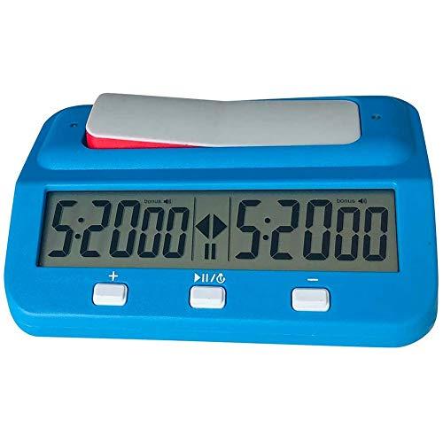 bobotron Chess Basic Digital Schachuhr und Spieltimer, Genaue Tragbare Digitaluhr, Digitaluhr-Timer (Blau)