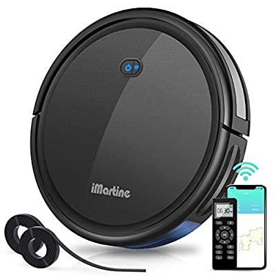 iMartine Robotic Vacuum Cleaner with 2000Pa Strong Suction, Wi-Fi Robot Vacuum with Boundary Strips, Up to 150-min Runtime, Ideal for Pet Hair, Carpets, Hard Floors(2.7''Slim)