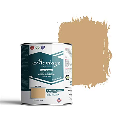 Montage Signature Interior/Exterior Eco-Friendly Paint, Mustard Seed, Low Sheen, 1 Gallon