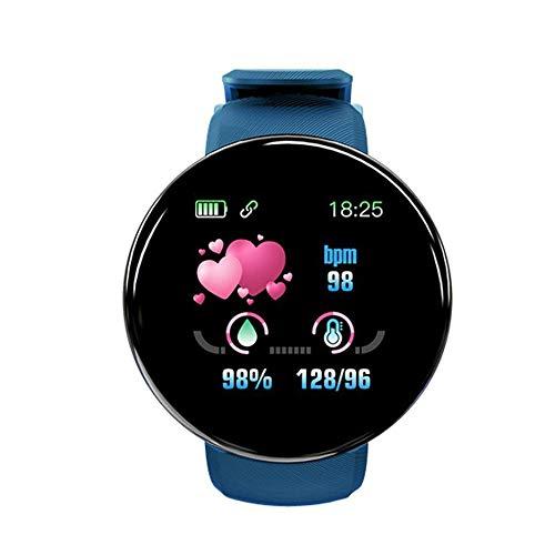 Morninganswer Banda de Pulsera Inteligente D18 con medidor de Pulso de presión de medición Pulsera de Reloj de Seguimiento de Actividad Deportiva
