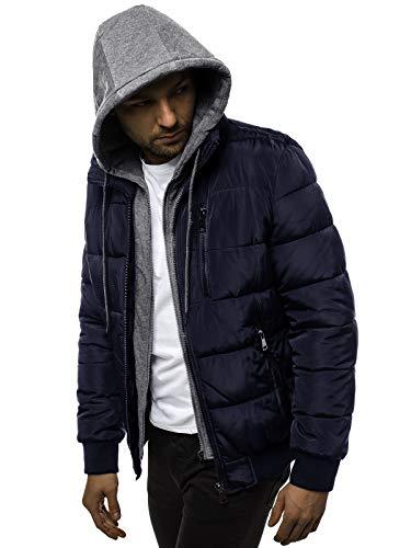 OZONEE heren winterjas jas winter kleurvarianten warm bomberjack gewatteerde wintermantel kunstbont donsjack lichte outdoor buffer jas gewatteerd O/99118