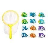 """Blue Panda Pool Tauchen Spielzeug € """"13-Pack Unterwasserspielzeug für Kinder, Tauch Catch Spiel, Beinhaltet 1 Net 13 Fische zu fangen, Mehrfarbig"""