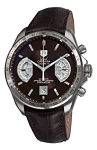 TAG Heuer Men's CAV511E.FC6231 Grand Carrera Chronograph Calibre 17 RS Brown Dial Watch image