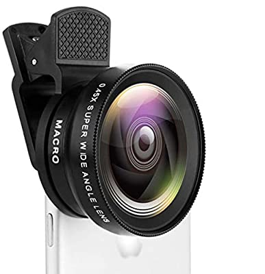 Smartphone Camera Lens kit, 4K HD Optics, 13.5X Macro Lens, 0.45x Ultra Wide-Angle Lens kit for iPhone7 8 X