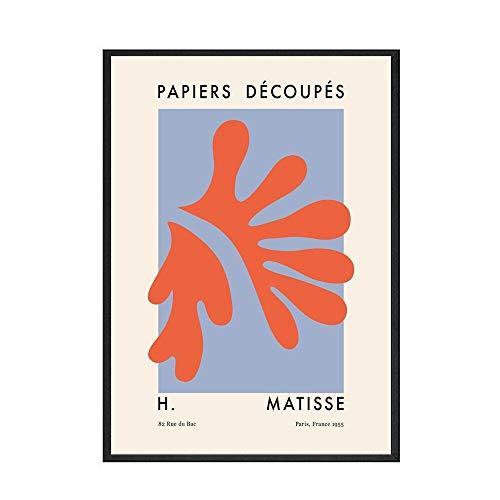 Matisse azul verde beige rosa naranja arte de la pared carteles e impresiones pinturas abstractas pinturas de lienzo sin marco de la familia nórdica F 50x75cm