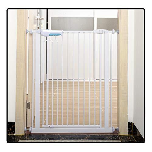 QIANDA Barrera Seguridad Niños Protector Escaleras Bebe Pared Metal Extensible Ajuste Puerta/Escalera Sin Taladrar En Cualquier Sitio, Adecuado for Espacios De 75-195cm (Size : 145-150cm)