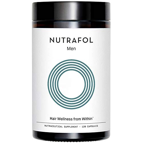 Nutrafol Men's Hair Growth Supplement for Thicker, Stronger Hair (120 Capsules - 1 Month Supply)