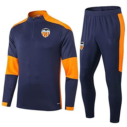 LZMX Football Club Fußball-Geschenk Valencia Männer Langarmshirt Trainingsanzug und Hosen Erwachsener Sport Set 2-teiliges Set (Size : XL)
