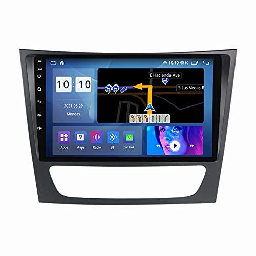 ADMLZQQ Android 10 Radio Coche Bluetooth Reproductor MP5 estéreo de Coche para Mercedes Benz W211 2002-2010 cámara de visión Trasera/FM/Control del Volante/Enlace Espejo,M600s