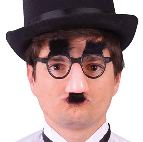Guirca Groucho Marx Barbie Verkleidung mit Nase, Farbe Schwarz und Pink, 3984