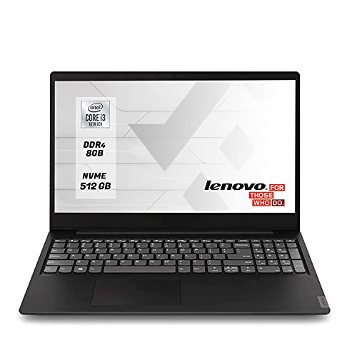 Lenovo Notebook Pc portatile Cpu intel core i3 10th, Ssd m.2 512Gb,8 Gb Ram Ddr4,UHD 15.6 FULL HD,Windows 10 Professional ,Libre Office, Antivirus
