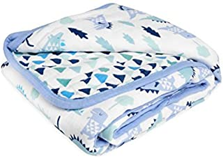 aden by aden + anais Dream Blanket 100% Cotton Muslin 4 Layer lightweight and breathable Large 44 X 44 inch Dinos