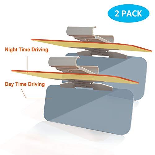 CigaMaTe Blendschutz für Auto, 2in1 Auto Sonnenblende Sonnenschutz Tag und Nacht Fahren Blenden, Regenwetter Antiblend Sonnenblendschutz Sonnenschutzblenden