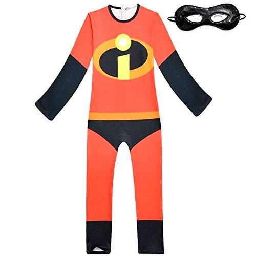 Carnavaljurk Het ongelooflijke shirt en masker rood en zwart stof elastisch Idea Trvance kinderen 4-5 jaar