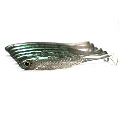 Dr.Fish Bass Fishing Lures Wiggle Shad Soft Plastic Baits Fishing 2.76inch Watermelon
