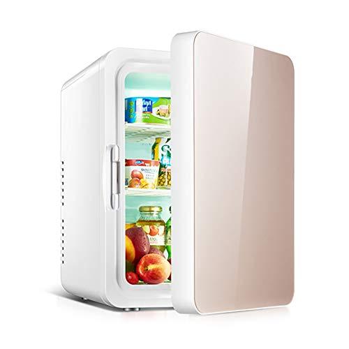 QQLK Mini Nevera EléCtrica 10L - Compacta Congelador con Funciones De RefrigeracióN Y CalefaccióN, Silencioso, Bajo Consumo De EnergíA,Oro