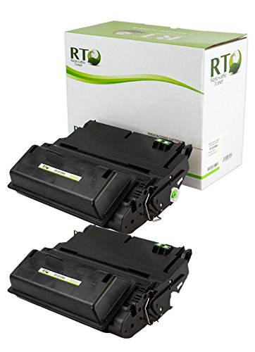 Renewable Toner Compatible Toner Cartridge Replacement for HP Q1338A 38A HP 42A Q5942A for Laserjet 4200 4240 4250 (Black, 2-Pack)