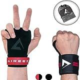 Aireez 2 in 1 Crossfit Handschuhe - Fitness Handschuhe & Handgelenk Bandagen Set SR...