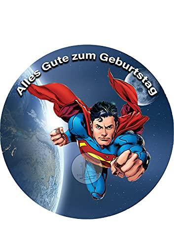 Superman , Essbares Foto für Torten, Tortenbild, Tortenaufleger Ø 20cm - Super Qualität, 1101aa