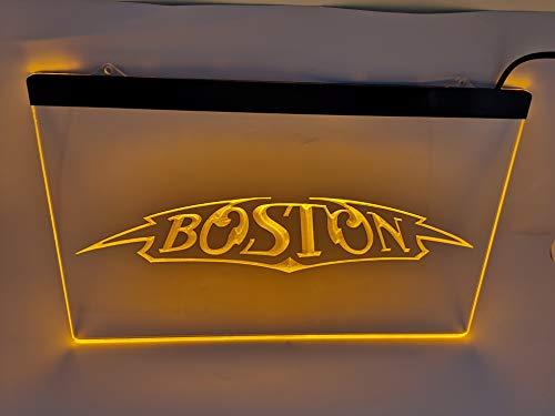 yellow Boston Band Bar Pub Led Light Sign