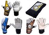 Die Sportskanone Guantes de portero para niños Fingersave con bolsillo para césped artificial (bronce, 4)