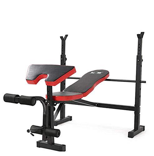 Phil Beauty Professionelle Gewichtheben Bankdrücken Bank Langhantel Rack Starre Stahlrohrstruktur 3 Verstellbare Rückenlehnen 6 Höhenverstellbar Laden Sie 400 Kg Fitnessgeräte