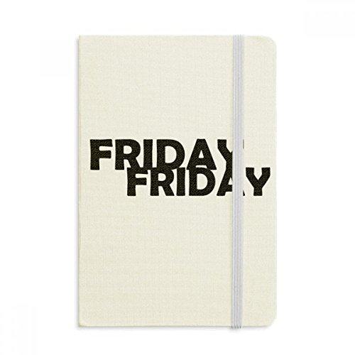 DIYthinker Stilvolle Charaktere Freitag Notebook Stoff Hard Cover Klassisches Journal Tagebuch A5 A5 (144 X 210mm) Mehrfarbig