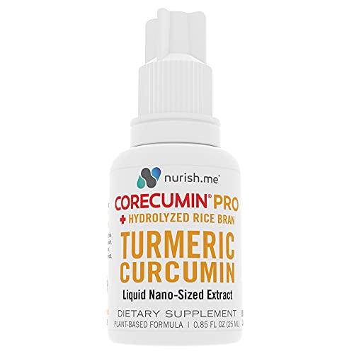 CoreCumin Pro – Advanced Liquid Turmeric Curcumin Supplement with Hydrolyzed Rice Bran – Anti-Oxidant, Anti-Inflammatory Join Supplement for Enhanced Immunity & Natural Pain Relief