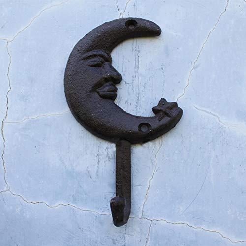 Europese Hooks, Antique Cast Iron, Hook, Wall Hanger, haken, maan vormige Haken.