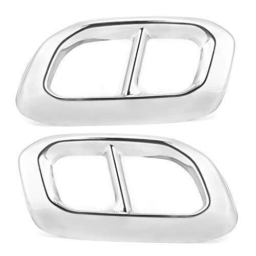 YDOZ 2pcs Car Throat Frame 4 Outlet Exhapa Tubería De Extracción Fits para Mercedes-Benz Glc Gle Gls W167 X253 X167 2020