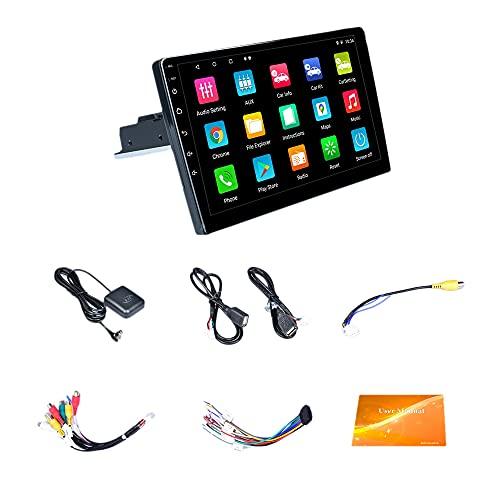CareMont 9 Pollici Quad Core Android 9.1 Autoradio Radio 1DIN Navigazione GPS Regolabile WiFi MP5 Player Collegamento Telefonico FM