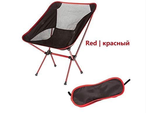 Sedia da esterno Moon Chair leggera Pesca Campeggio Barbecue Sedie Portatile Pieghevole Ampio Escursionismo Sedile Giardino Ultraleggero- Rosso, a1