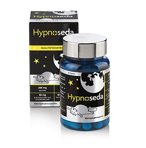 Hypnoseda. Synergieeffekt für Schlafen. Besser als Schlaftabletten, hochwertige Melatonin-Quelle