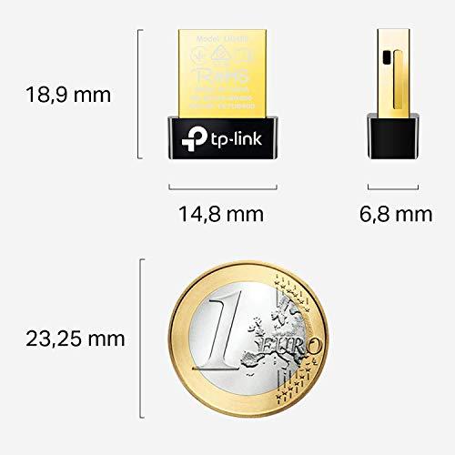 TP-Link UB400 Nano USB Bluetooth 4.0 Adapter Dongle (für PC Laptop Desktop Computer, unterstützt Windows 10/8.1/8/7/XP, Plug & Play für Windows 10/8.1/8)