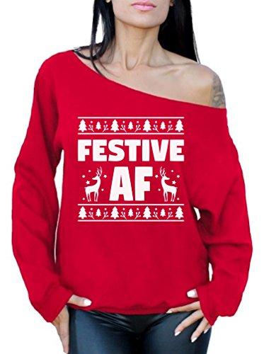 Sexy Off Shoulder Christmas Sweater - Festive AF