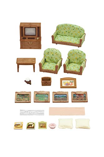 Sylvanian Families 5287 5287-Wohnzimmer-und TV-Set, Bunt
