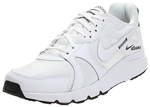 Nike Atsuma, Running Shoe Hombre, Blanco/Negro, 44.5 EU