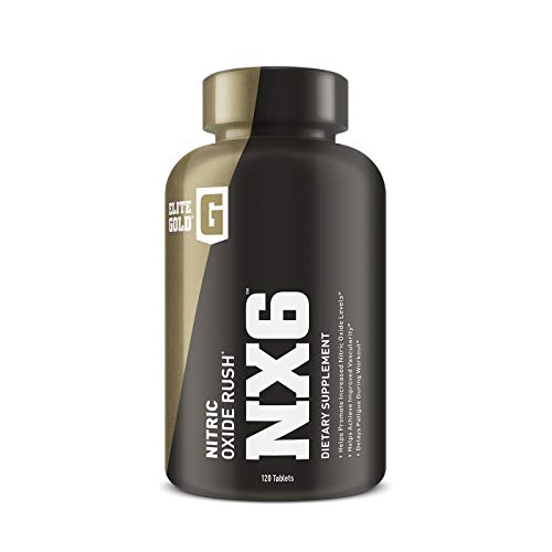 Complete Nutrition Elite Gold NX6 Nitric Oxide Rush, Nitric Oxide Supplement, Increase Vascularity and Endurance, Beta Alanine, Nitrosigine, 120 Count