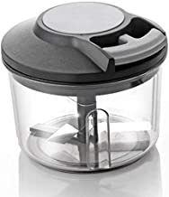 SHOPPOWORLD 650ml Handy Plastic Chopper with Pull Cord Technology and 3 Stainless Steel Blades Eco Friendly Design Vegetable & Fruit Chopper (Multicolor)