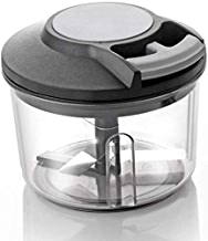 SHOPPOSTREET 650ml Handy Plastic Chopper with Pull Cord Technology and 3 Stainless Steel Blades Eco Friendly Design Vegetable & Fruit Chopper (Multicolor)