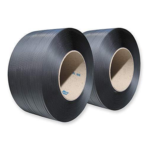 3000 m Umreifungsband 12 x 0,55 mm PP Kern 200 mm Reißfest 135 kg Verpackung