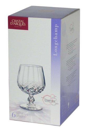 Cristal d'Arques, Longchamp Cognac 320ml, sans repère de remplissage, 6 Verres
